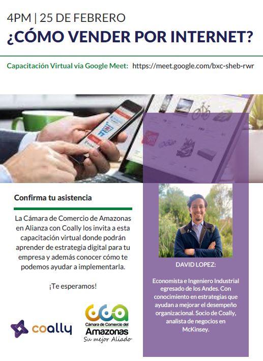 Camara de Comercio del Amazonas en alianza con Coally los invita a la capacitación virtuaL