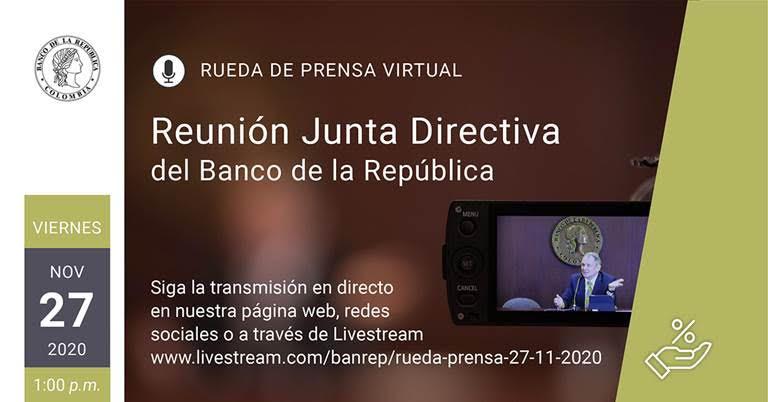 Rueda de prensa virtual / Banco de la República