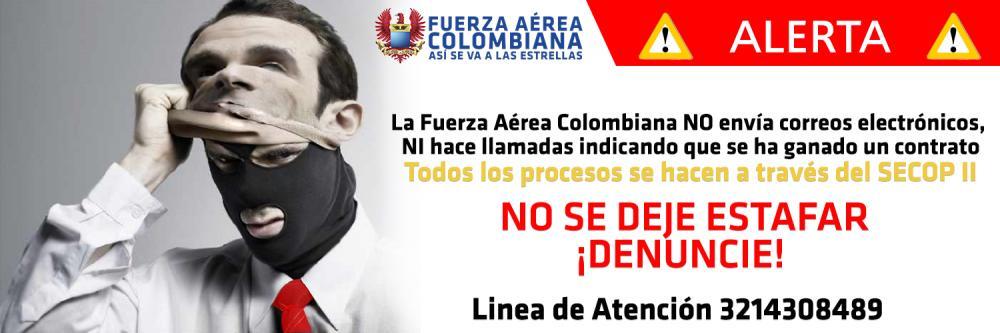 Campaña contra las Estafas de la Fuerza Aérea Colombiana