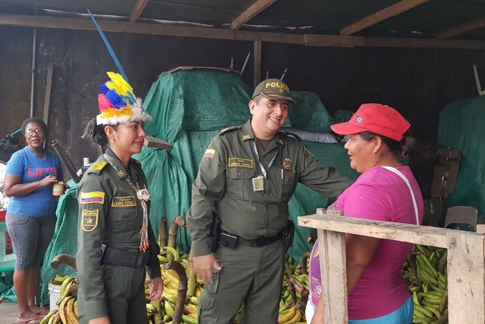 Policía hace presencia en Puerto Nariño