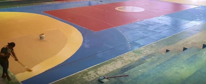 Campo de esportes da escola GM