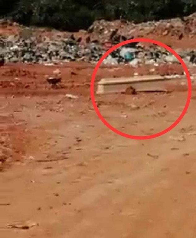 image for Ataúdes son abandonados en botadero municipal