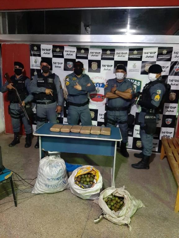 image for Drogas são apreendidas no meio de tucumãs em Jutaí