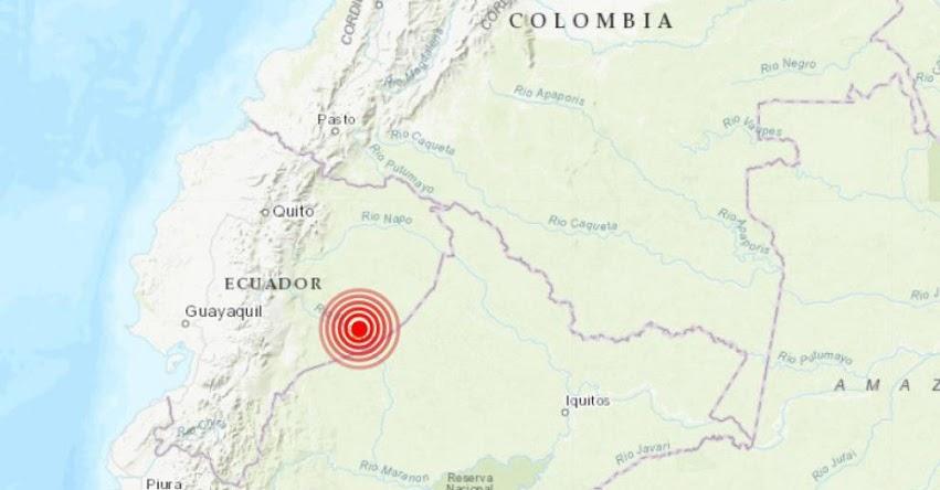 Area del globo de la tierra mostrando mapa de Ecuador y Colombia