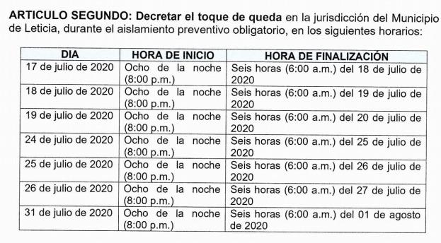 image for Nueva medida de Toque y Queda