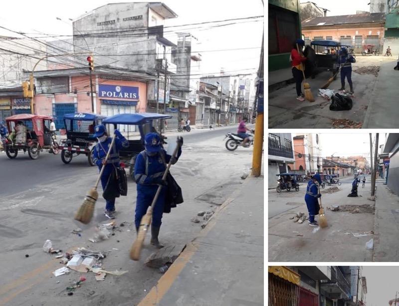image for Trabajos de limpieza y barrido de calles en los sectores de la casona de Belén