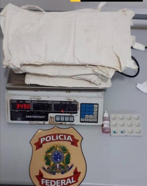 image for Mulher é presa com droga fixada no corpo no Aeroporto Tabatinga