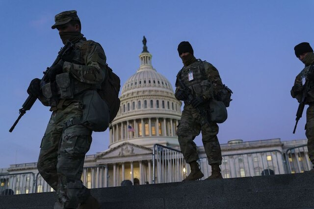 image for 25 000 troops providing security for Biden inauguration