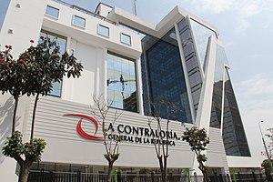 Edificio de la contraloria en Peru