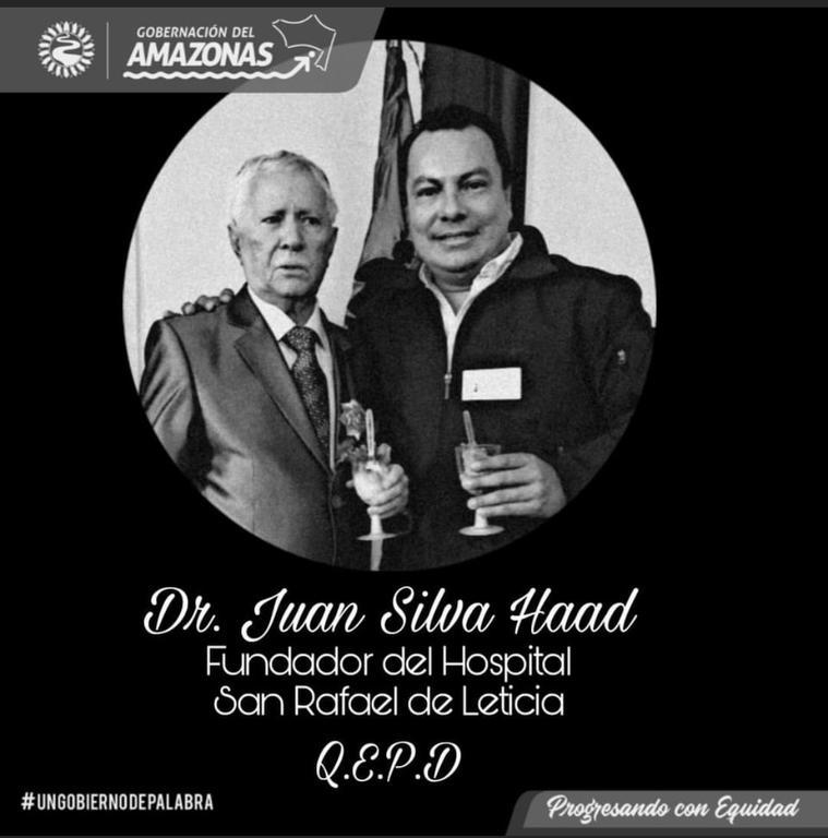 image for Gobernación lamenta falecimento del Dr Juan Silva Haad