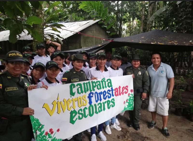 image for Policía ambiental lanza campaña viveros forestales escolares