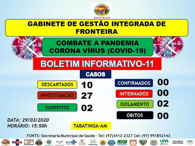 image for Tabatinga não teve nenhuma morte   Coronavírus