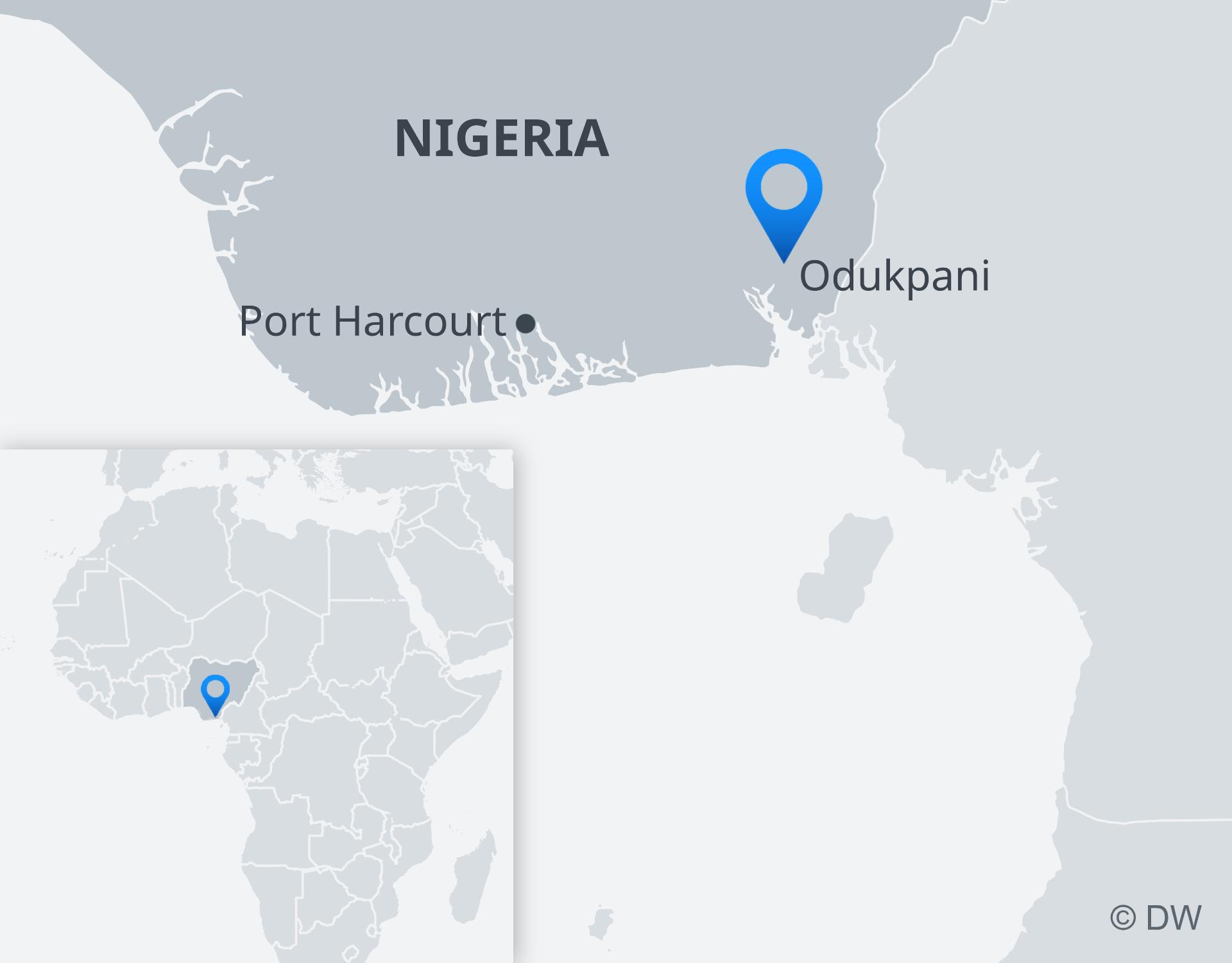 Mapa de la explosion de petroleo en la zona de Nigeria
