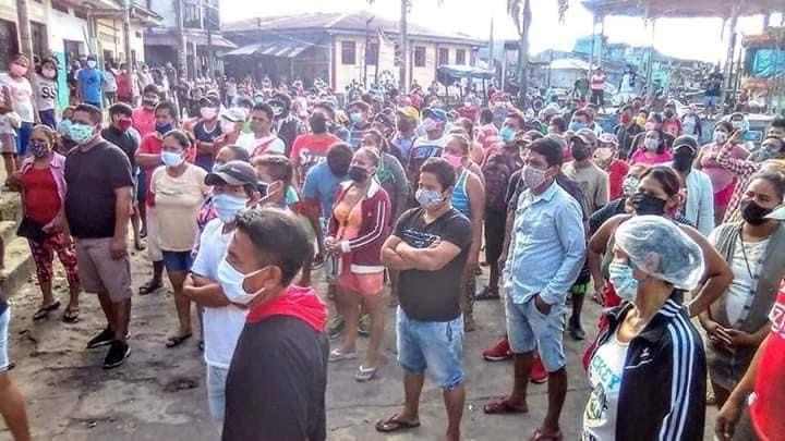 image for Protesta de vendedores que quieren salir a las calles a trabajar
