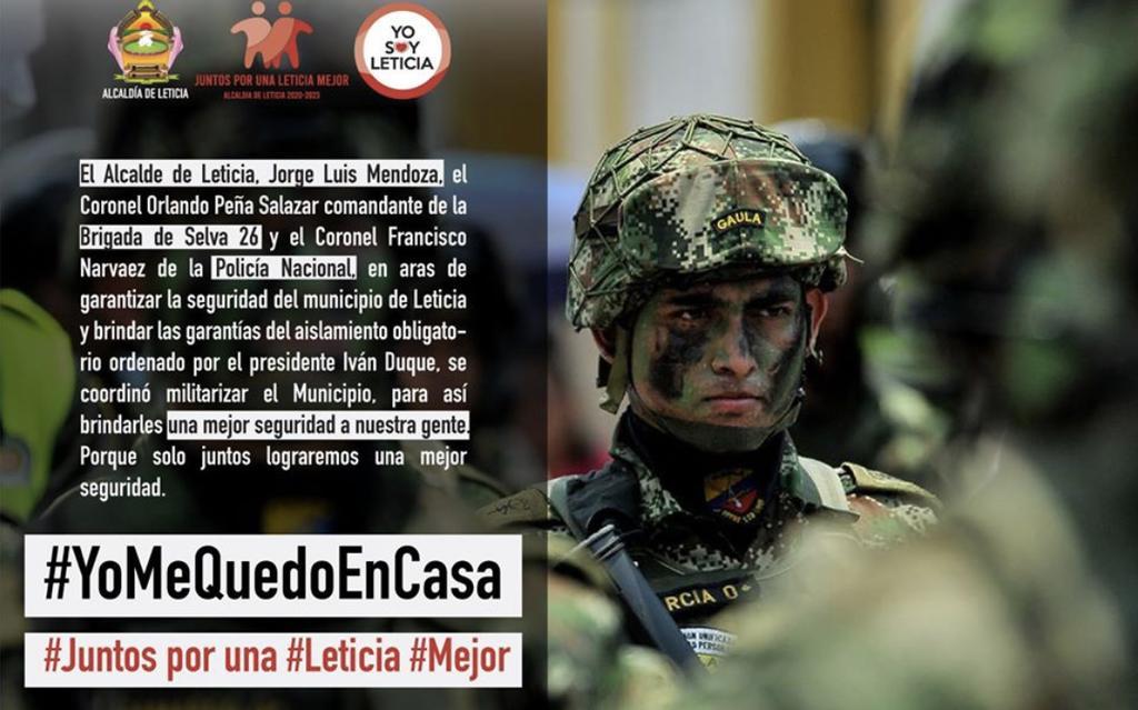 image for Militarización del municipio para garantizar la seguridad de la ciudadanía