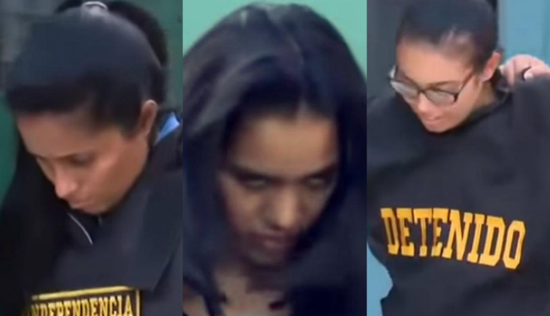 Mujeres despues de ser capturadas