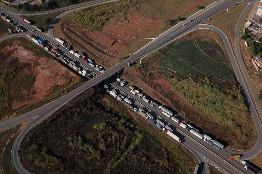 image for Truckers block Brazil highways in support of president