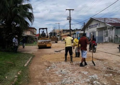 image for Obras continuam avançando em Tabatinga