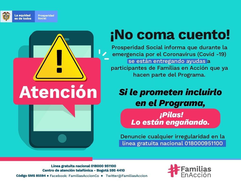 image for Inscripciones a programas de Familias en Acción están cerradas