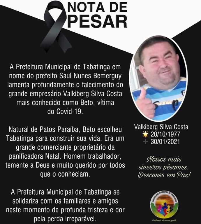 image for Prefeitura lamenta falecimento de empresário Valkiberg
