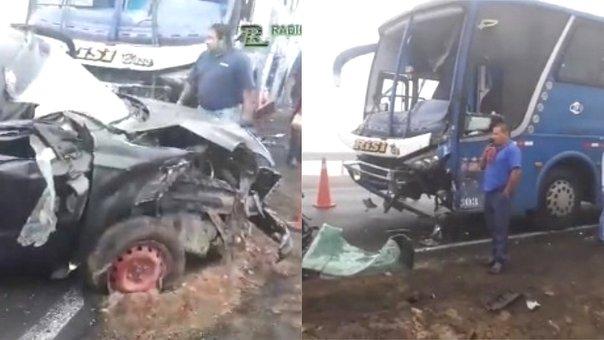Imágenes de dos autos estrellados