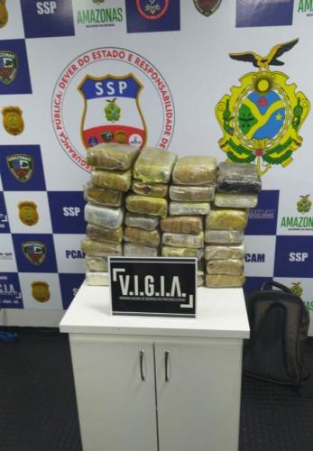 image for Base Arpão apreende 32 quilos de drogas em embarcação