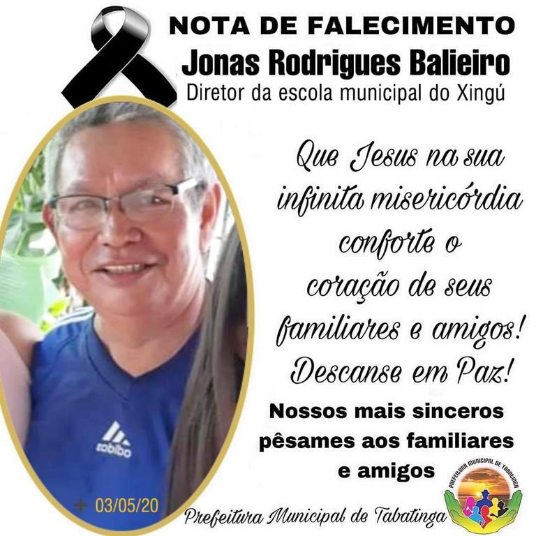 image for Nota de falecimento | Morte de Jonas Rodrigues Balieiro