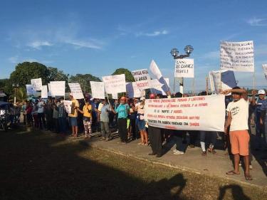 image for Pobladores indígenas se unieron para realizar una nueva protesta