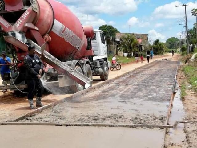 image for Obras de pavimentação da estrada Perimetral Norte 2 continuam