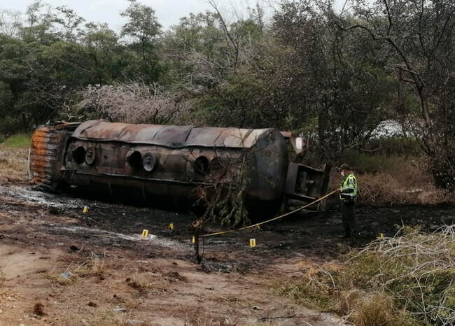 image for Número de muertos en explosión de camión en Tasajera sube a 10