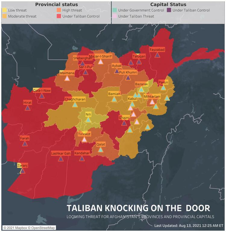 image for Taliban capture three more provincial capitals in Afghanistan