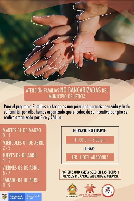 image for Atención familias no bancarizadas del municipio