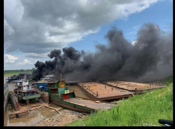 image for Incendio en el puerto Ransa