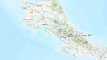 image for Sismo sacude costa del Pacífico de Costa Rica