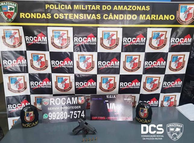 image for Polícia Militar detém foragido da Justiça com arma de fogo Tabatinga