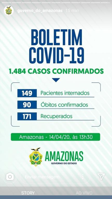 image for Atualizando o boletim  (covid-19) no estado do Amazonas