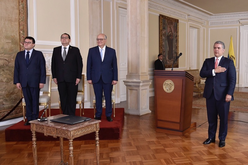 Presidente Ivan Duque en acto de posecion de embajador