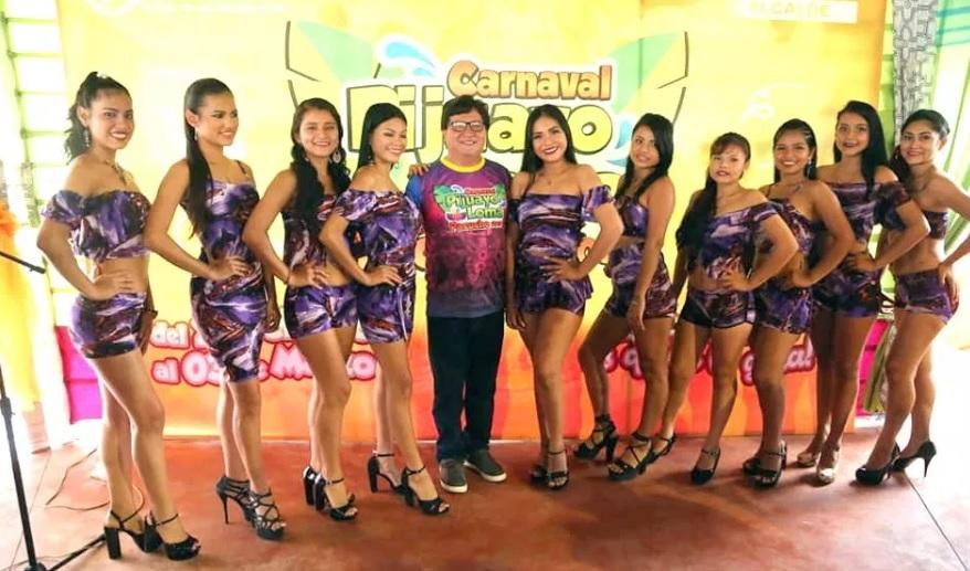 Candidatas al Miss Carnaval Pijuayo Pacucho 2019