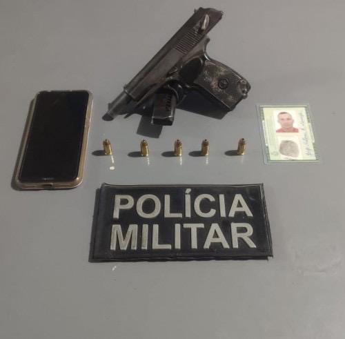 image for Detém homem suspeito de cometer homicídio com arma de fogo