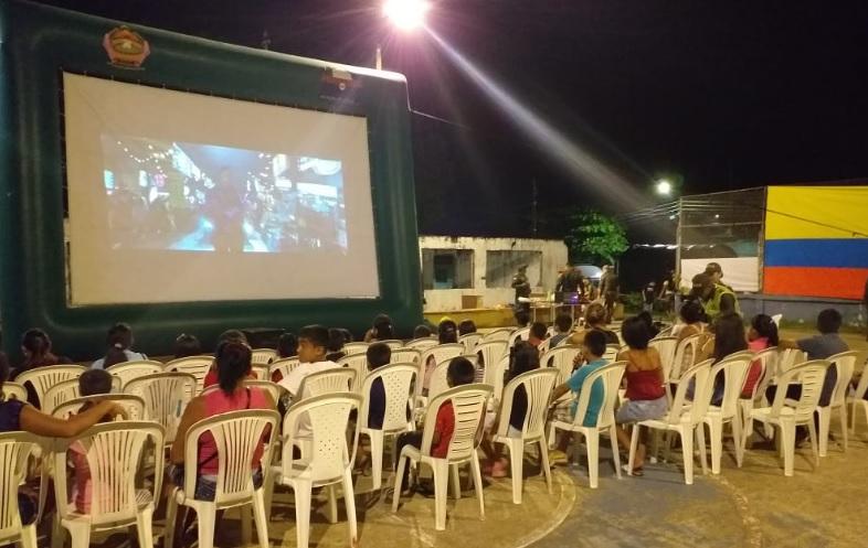 Parque de Leticia en un cine al parque