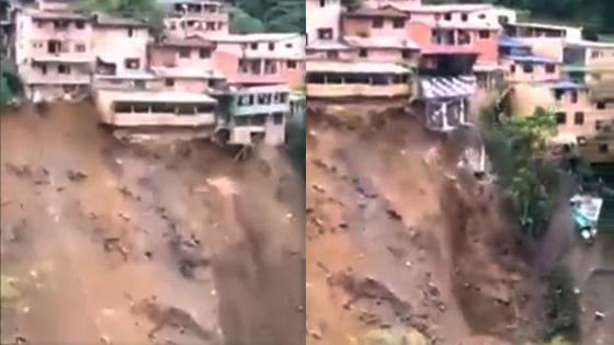 image for Habitantes de Guayabetal huyen por derrumbes
