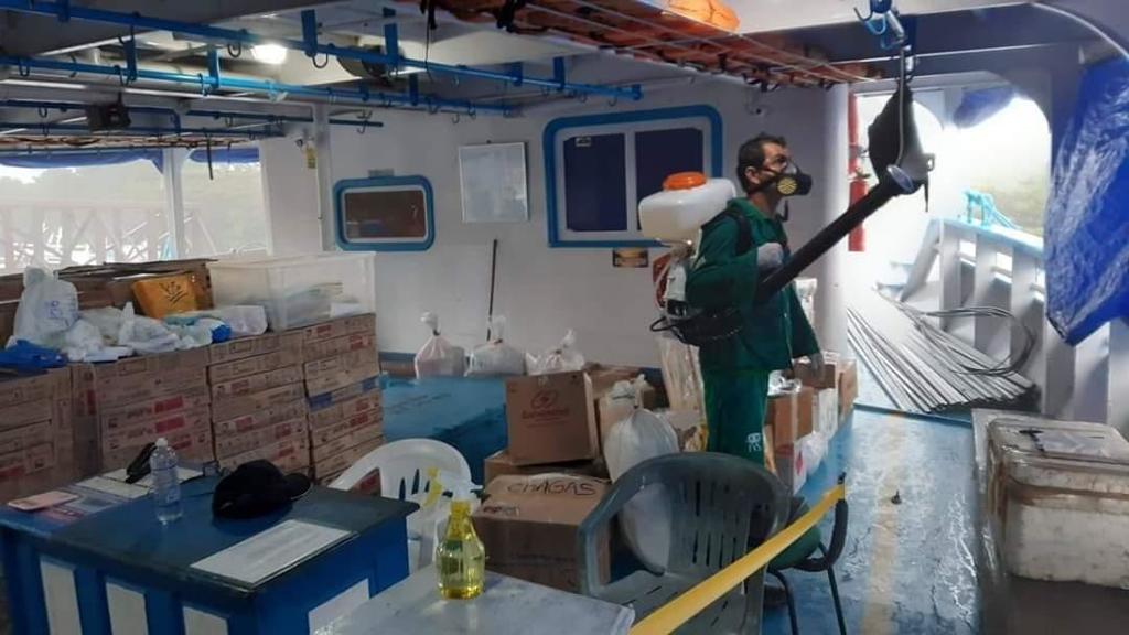 image for Operação de combate à  desinfecção de compartimentos de embarcações