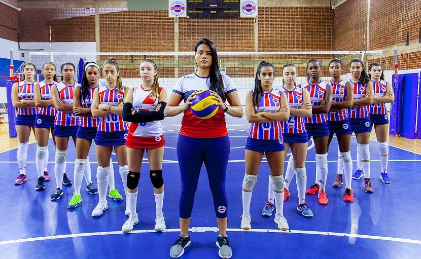 Mulheres da equipe de basquete