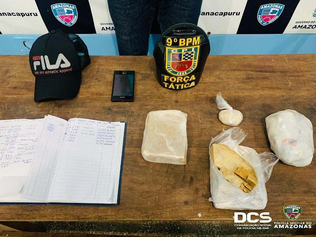 image for Polícia Militar detém homem com mais de 1kg de drogas