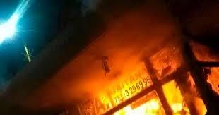 image for 12 CAI incendiados tras desmanes en Bogotá