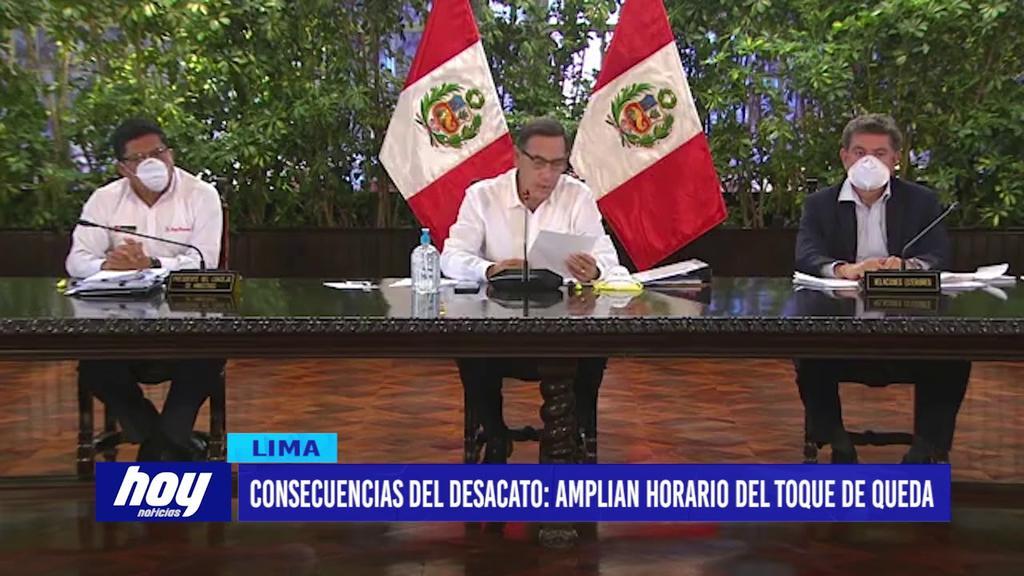 image for Perú amplía horario del toque de queda