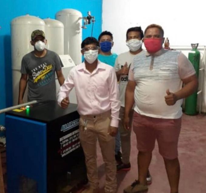 image for Producción de la planta de oxígeno es de 400 metros cúbicos