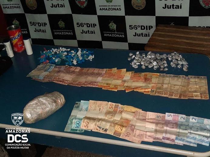 image for Polícia Militar detém dois homens por tráfico de drogas