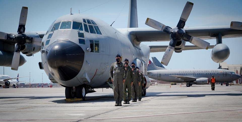 image for Aterriza en suelo peruano dos aviones Hercules KC-130