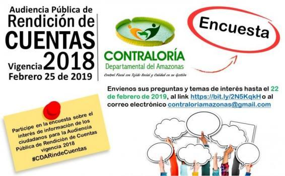 Imagen de invitacion a de rendición de cuentas de la Contraloria Amazonas